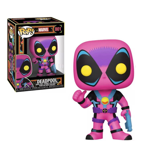 PRE ORDER Marvel Black Light Deadpool Funko POP Vinyl
