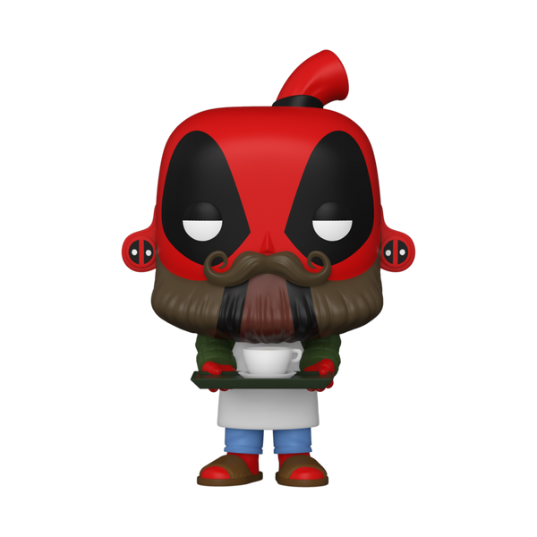 PRE ORDER Marvel Deadpool 30th Coffee Barista Funko Pop! Vinyl