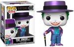 PRE ORDER DC Heroes Batman 1989 Metallic Joker With Hat Funko Pop Vinyl Figure