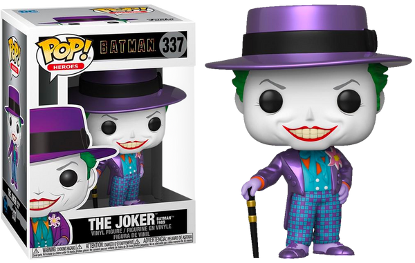 DC Heroes Batman 1989 Metallic Joker With Hat Funko Pop Vinyl Figure