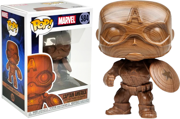 Marvel Captain America Wood Deco Funko Pop Vinyl Figure