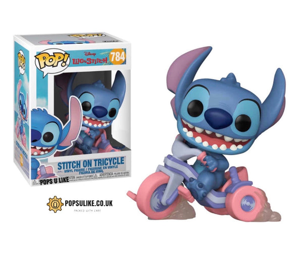 Lilo And Stitch Stitch On Tricycle Funko Pop Vinyl Figure Disney Special Edition