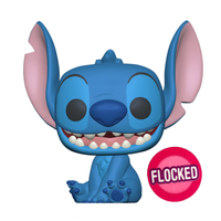 PRE ORDER Disney Lilo And Stitch Smiling Seated Stitch Flocked Funko Pop Vinyl Figure