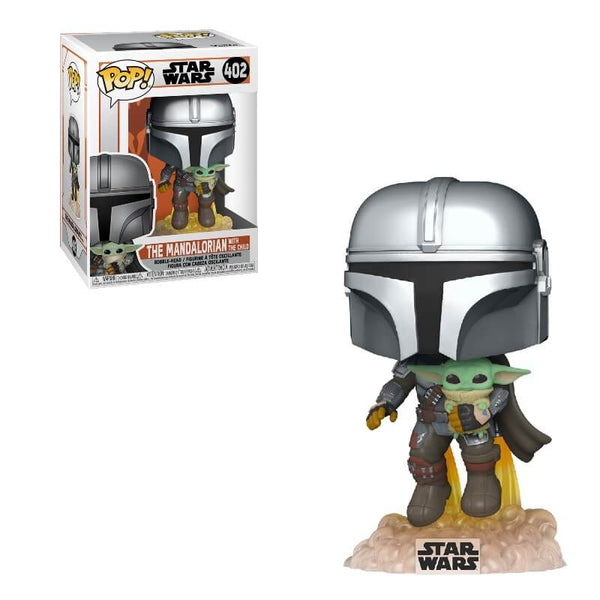 PRE ORDER Star Wars The Mandalorian Mandalorian Flying with Jet Funko Pop! Vinyl