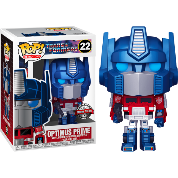 PRE ORDER Transformers Metallic Optimus Prime Funko POP Vinyl