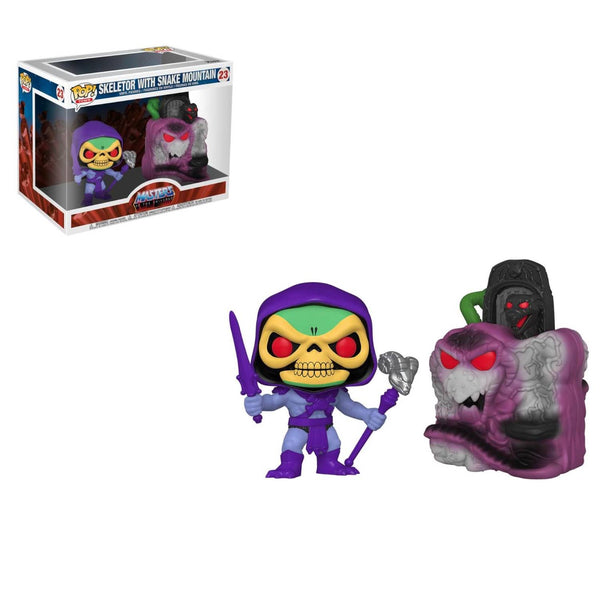 PRE ORDER Masters of the Universe Snake Mountain with Skeletor Funko Pop! Vinyl Town