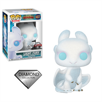 Light Fury Diamond Glitter Funko Pop Vinyl Figure How To Train Your Dragon Special Edition Exclusive #697