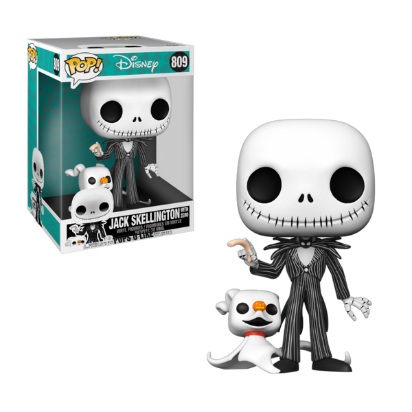 PRE ORDER Disney Nightmare Before Christmas Jack with Zero 10-Inch Funko Pop! Vinyl Figure