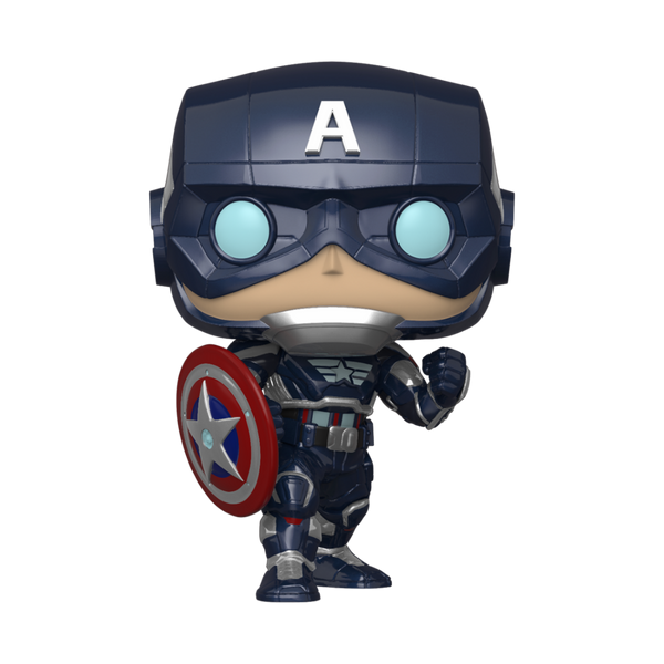 Marvel Avengers Game Captain America (Stark Tech Suit) Funko Pop Vinyl Figure
