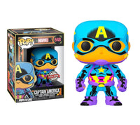 Marvel Black Light Captain America Funko POP Vinyl
