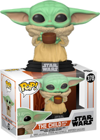 Star Wars The Mandalorian The Child (Baby Yoda) with Cup Funko Pop! Vinyl