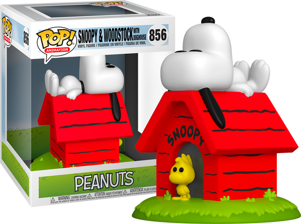 Peanuts Snoopy And Woodstock With Doghouse Deluxe Funko POP! Vinyl