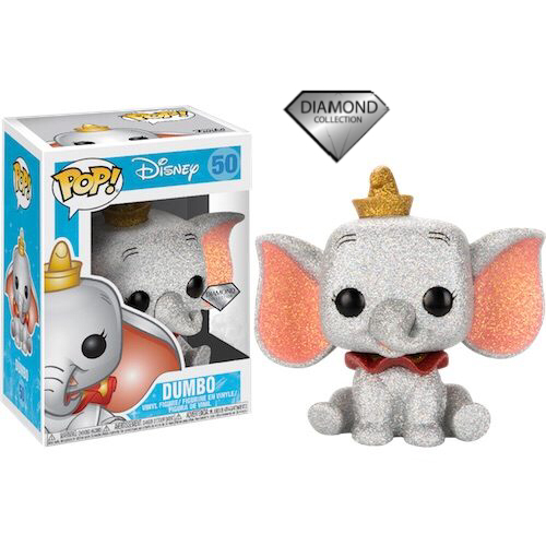 Dumbo Diamond Glitter Funko Pop Vinyl Figure From The Disney Collection #50