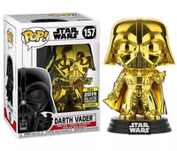 Star Wars Darth Vader Gold Chrome Funko Pop Vinyl Figure 2019 Galactic Convention Exclusive
