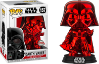 Star Wars Darth Vader Red Chrome Funko Pop Vinyl Special Edition