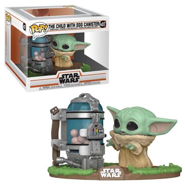 PRE ORDER Star Wars The Mandalorian Child with Canister Funko Pop! Vinyl