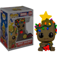 Guardians of the Galaxy Holiday Baby Groot with Christmas Lights Glow in the Dark Funko Pop! Vinyl