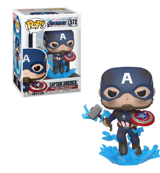 Marvel Avengers Endgame Captain America with Broken Shield Pop! Vinyl Figure