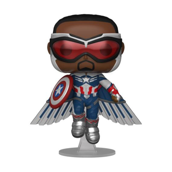 PRE ORDER Marvel The Falcon and the Winter Soldier Captain America Flying Pose Funko Pop Vinyl
