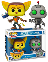 PRE ORDER Ratchet And Clank Funko POP! Vinyl Figures 2 Pack