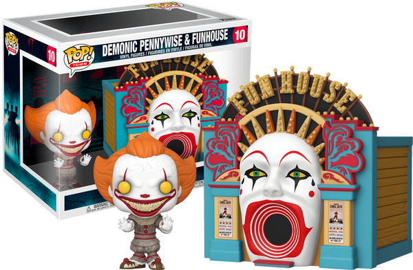IT 2 Demonic Pennywise with Funhouse Funko Pop! Vinyl Town