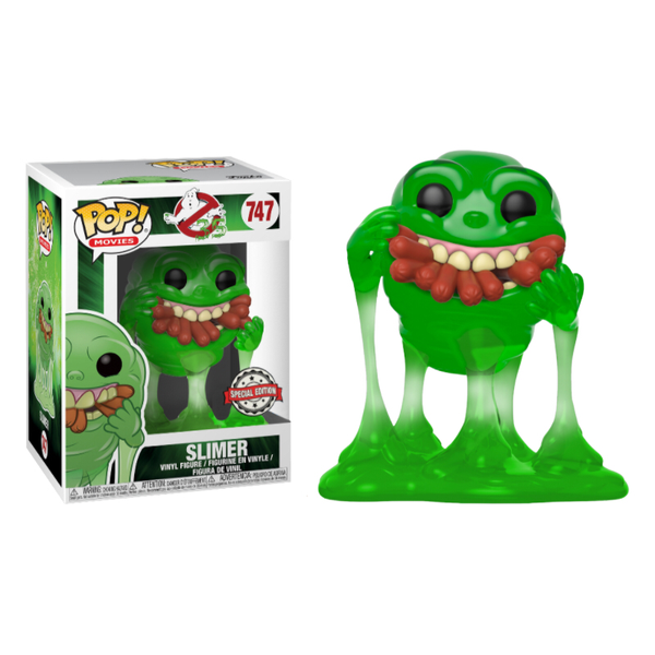 Ghostbusters Translucent Slimer With Hot Dogs Funko Pop Vinyl Figure #747