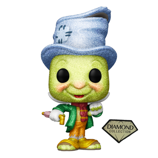 Disney Pinocchio Street Jiminy Cricket 80th Anniversary Diamond Glitter Funko Pop! Vinyl