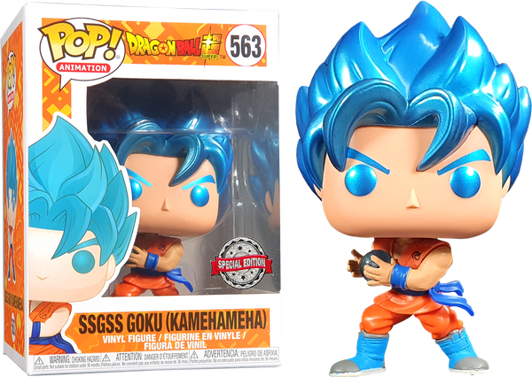 Dragon Ball Super SSGSS Goku KamehaMeha Metallic Funko Pop! Vinyl Figure #563