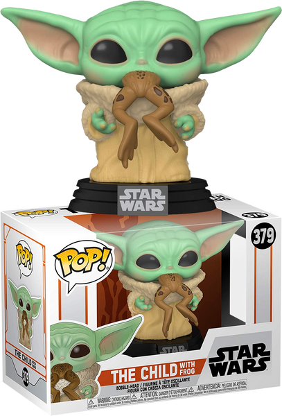 Star Wars Mandalorian The Child (baby yoda) With Frog Funko Pop Vinyl Figure