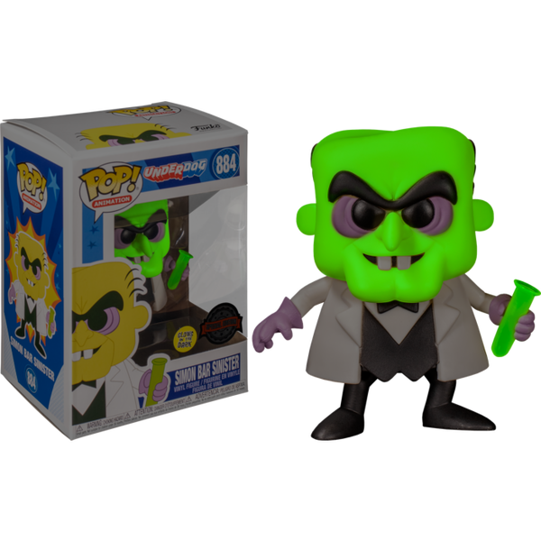 PRE ORDER Underdog Simon Bar Sinister Glow in the Dark Funko Pop! Vinyl
