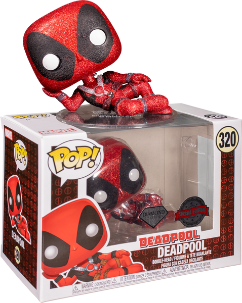 PRE ORDER Deadpool Diamond Glitter Funko Pop Vinyl Figure Marvel
