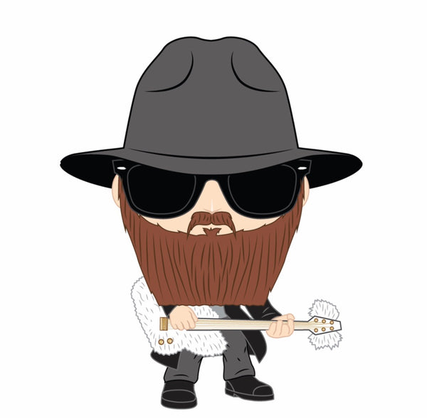 PRE ORDER ZZ Top Billy Gibbons Funko Pop Vinyl Figure Rock