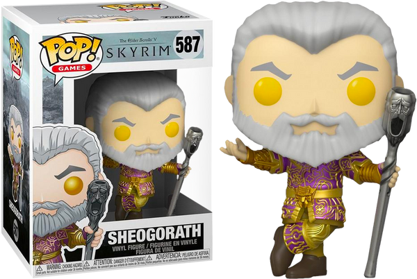The Elder Scrolls V Skyrim Sheogorath With Wabbajack Metallic Funko Pop Vinyl Figure 2020 E3 Convention Exclusive