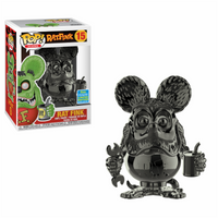 Pop Icons Rat Fink Grey Chrome Funko Pop Vinyl Summer Convention Exclusive SDCC