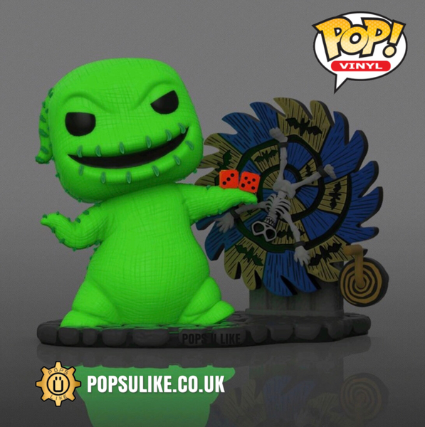 PRE ORDER Disney The Nightmare Before Christmas Oogie Boogie with Spinwheel (Spinning Wheel) Funko Pop Vinyl Glow In The Dark Exclusive
