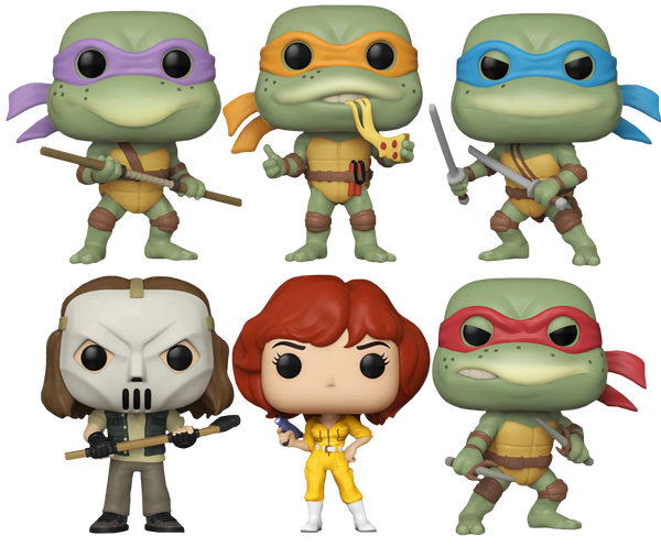 Teenage Mutant Ninja Turtles Bundle Set Of 6 Funko Pop! Vinyl Figure