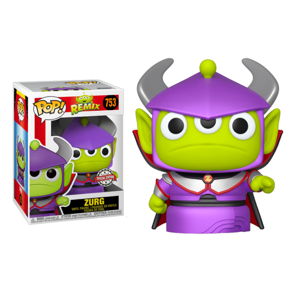 Disney Pixar Alien Remix Metallic Zurg Funko Pop Vinyl