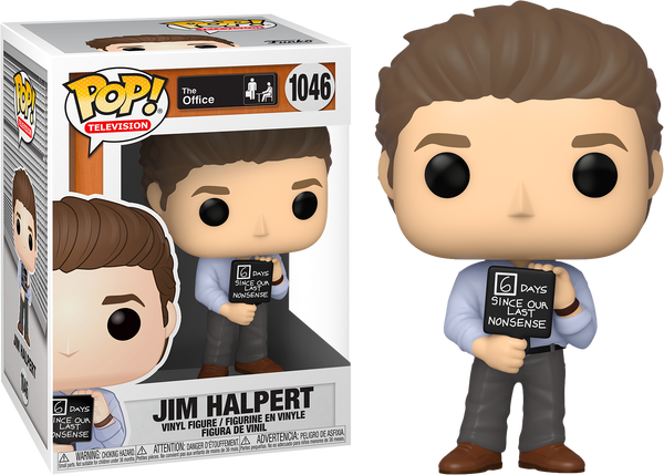 PRE ORDER The Office Jim With Nonsense Sign Funko Pop! Vinyl