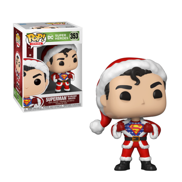 PRE ORDER DC Superman In Holiday Sweater Funko POP Vinyl