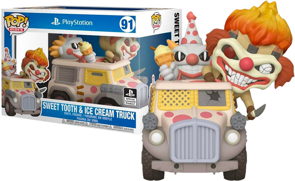 PRE ORDER Twisted Metal Needles Kane With Sweet Tooth Ice Cream Truck Funko POP! Vinyl Rides