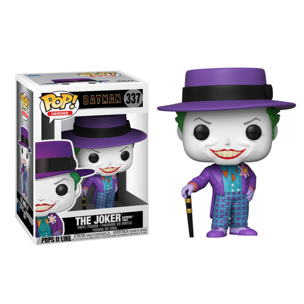 PRE ORDER DC Heroes Batman 1989 Joker With Hat Funko Pop Vinyl Figure
