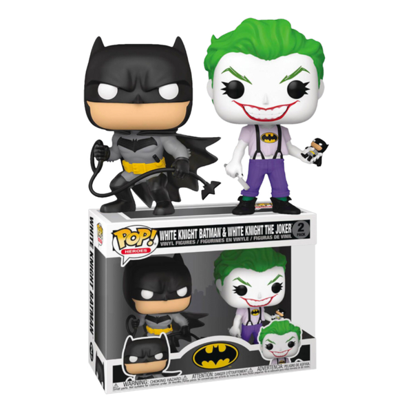 PRE ORDER Batman White Knight Batman & The Joker Funko Pop! Vinyl 2-Pack