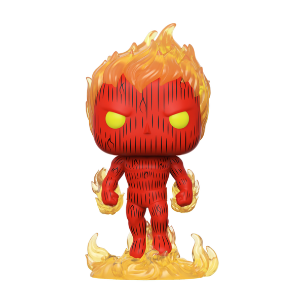 POP Marvel: Fantastic Four - Human Torch Funko Pop Vinyl Figure