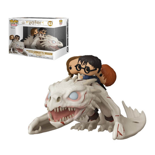 PRE ORDER Harry Potter Dragon with Harry, Ron & Hermione Funko Pop! Vinyl Ride