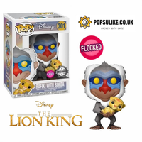 Disney The Lion King Rafiki With Simba Flocked Funko Pop! Vinyl Exclusive #301