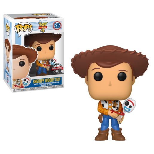 Toy Story 4 Sheriff Woody Holding Forky Funko Pop Vinyl Special Edition #535