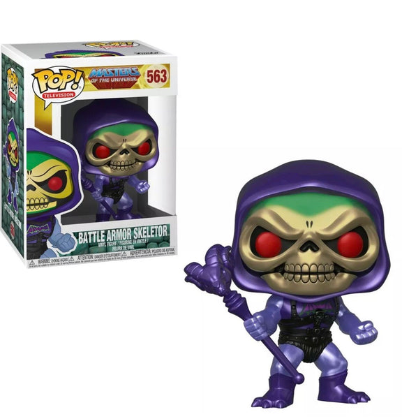 Masters Of The Universe Metallic Battle Armor Skeletor Funko Pop Vinyl Figure #563