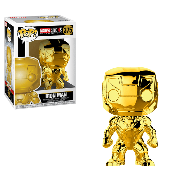 Marvel Studios Iron Man Gold Chrome Funko Pop! Vinyl Figure #375