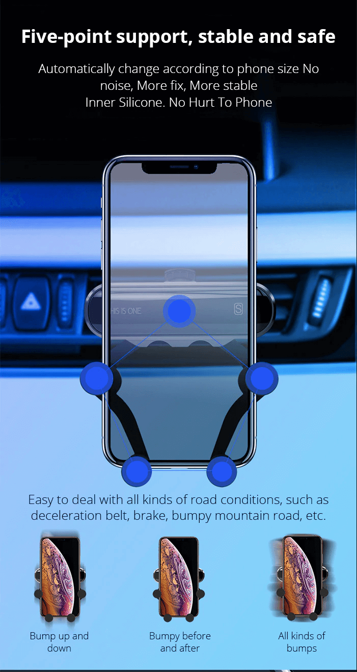 Xshopz Phone Holder & Gravity Stand for Car