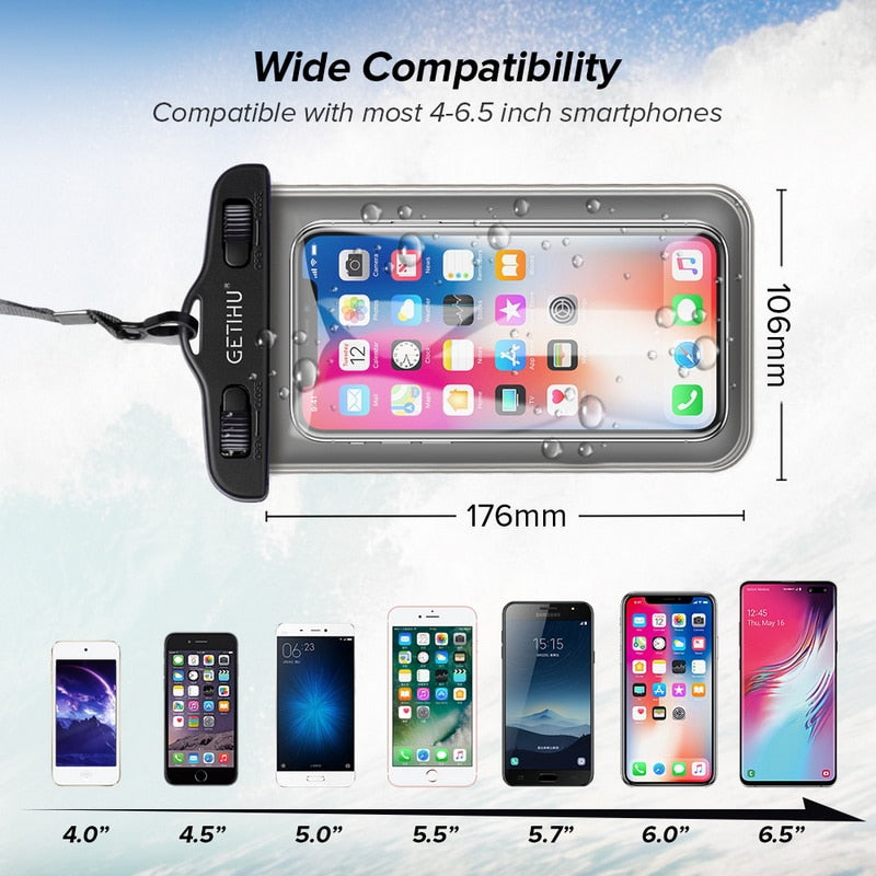 Buy Getihu Universal Waterproof Cover Pouch Case For iPhone Tech Accessories - Xshopz